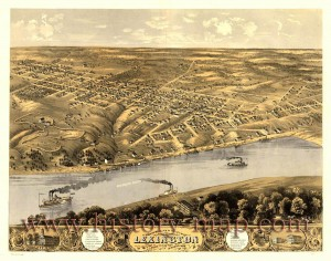 19th Century sketch of Lexington, MO